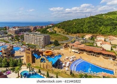 ELENITE, BULGARIA - JULY 16, 2016: The Elenite Holiday Village, lying just 10 km North of Elenite Holiday Village offers stylish villas and hotel accommodation