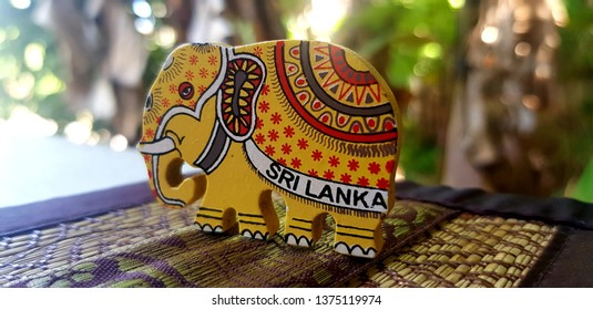 An elephant art handcraft which you can buy from local sellers in sri lanka. The cloth design is of a traditional elephant costume which used in Kandy perahera, the world famous event in Kandy.