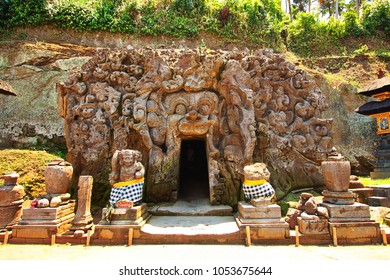 Elephant Cave temple and forest in Bali