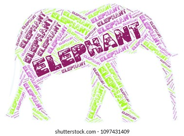 An elephant collage
