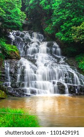 Elephant Falls or Three steps water falls, in Meghalaya, East Khasi Hills, India