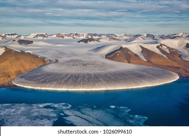 Elephant foot glacier in North Greenland