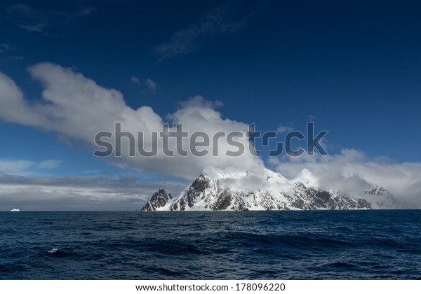 Elephant Island (South Shetland Islands) in the Southern Ocean. With Point Wild, location of Sir Ernest Shackleton amazing survival story