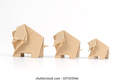 Elephant paper on a white background.