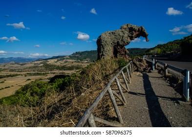 Elephant rock close to Castelsardo, Sardinia, Italy.