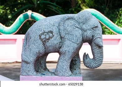 Elephant statue made from stone, Thailand.