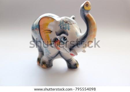 An Elephant Statue, A Porcelain Elephant, A Beautiful Elephant
