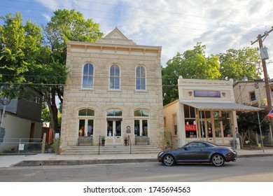 The Elephant Story Home Goods Store is located on High Street in the downtown area - Comfort, Texas, USA - May 30, 2020