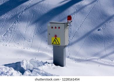 eletric sign at Farellones Park