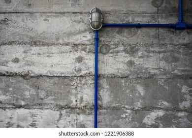 Eletric tube in a wall