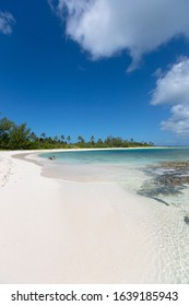 Eleuthera island, Bahamas. August 06 2016: Twin Cove Beach, Eleuthera , Bahamas.