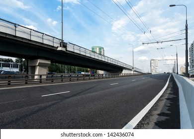 Elevated roads in Moscow, Russia