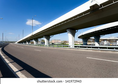 Elevated roads on sunny day