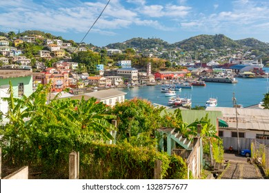 Elevated view of the Carnarge of St George's, Grenada, Windward Islands, West Indies, Caribbean, Central America 2 February 2019