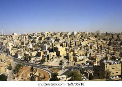 Elevated View of the City from the Citadel, Amman, Jordan