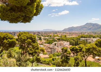 Elevated view of the city of Palermo in North West Sicily