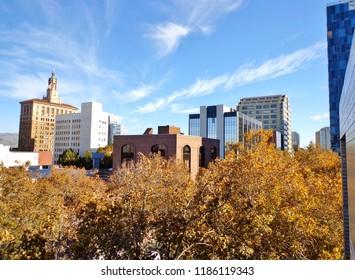 Elevated View of Downtown San Jose, California, USA (Autumn/ Fall)