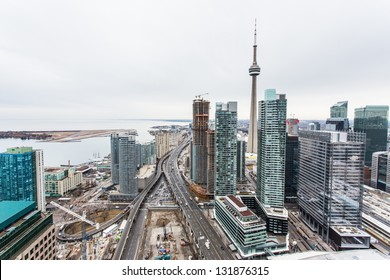 Elevated view of downtown Toronto
