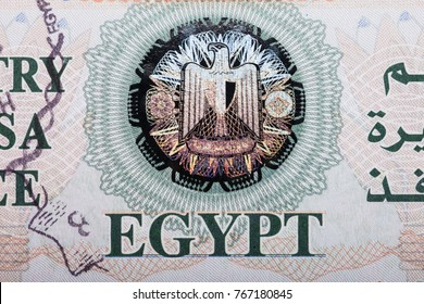Elevated View Of Egypt Entry Visa Fee