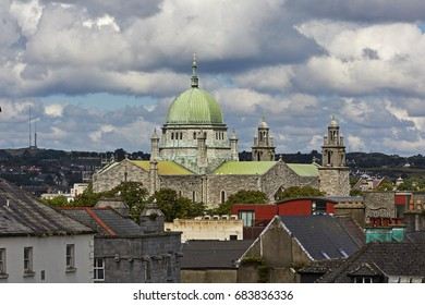 Elevated view of the Galway Cathedral of 'Our Lady Assumed into Heaven and St Nicholas' in Galway