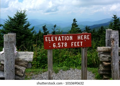 Elevation Sign in the Blue Ridge Mountains