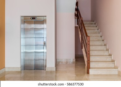 elevator in an apartment house