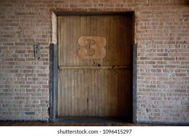 Elevator Brick Wall