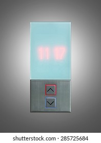 Elevator Button up and down direction on gray background, include clipping path