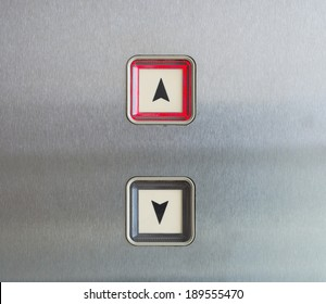 Elevator Button up and down direction with up red light