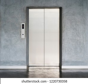 elevator with closed door