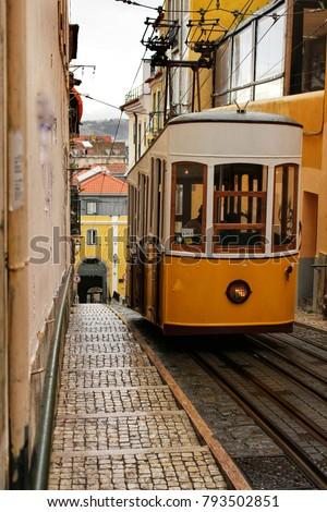 Elevator Da Bica Winter Lisbon Portugal Stock Photo Edit Now