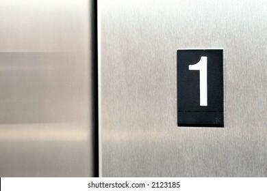 elevator floor number 1