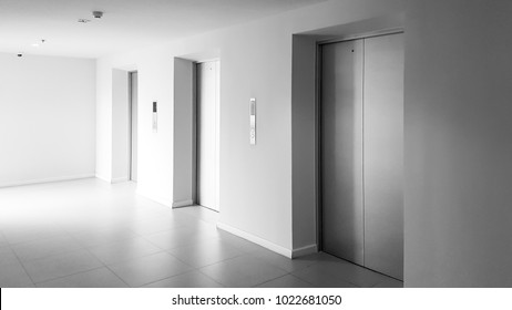 Elevator hall with natural light.