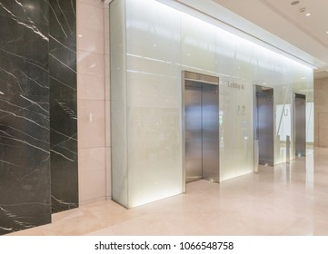 elevator in modern shopping mall