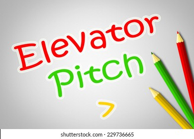 Elevator Pitch Concept text on background