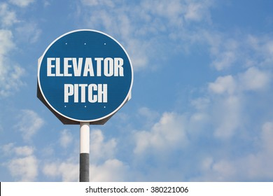 Elevator Pitch Sign