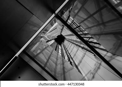 Elevator shaft design.