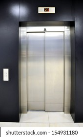 elevator in shopping center, Brno