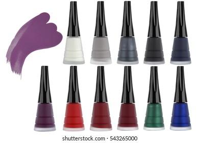 Line Art Matte Eyeliner : Realistic black bottle liquid eyeliner brush stock illustration
