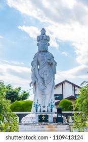 Eleven-Faced Avalokitesvara statue in Sanpo-ji Temple, Tokyo, Japan.