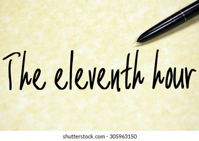 the eleventh hour text write on paper