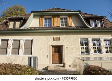 Elgg, Switzerland. October 30, 2017 ; Swiss house in small town , Switzerland.