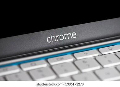 Elgin, Illinois - Circa 2019: An HP educational edition chromebook designed for school or student use.