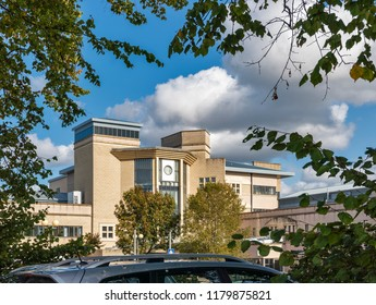 ELGIN,MORAY,SCOTLAND - 29 AUGUST 2018: This is the NHS Dr Grays Hospital, Elgin, Moray, Scotland on a very sunny day, 29 August 2018.