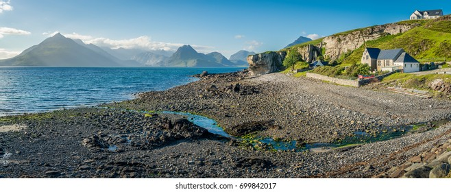 Elgol, village on the shores of Loch Scavaig towards the end of the Strathaird peninsula in the Isle of Skye, in the Scottish Highlands.