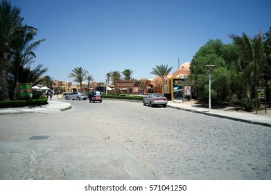 El-Gouna, Egypt - August 14, 2015: El-Gouna. Egypt. Tourist resort on the Red Sea coast and is known as the Pearl of the Red Sea or Venice in the sand