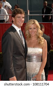 Eli Manning and wife Abigal  at the 2008 ESPY Awards. Nokia Theatre, Los Angeles, CA. 07-16-08