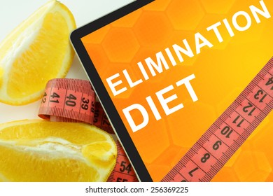 elimination diet on tablet.