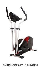 Eliptical exercise equipment on white background