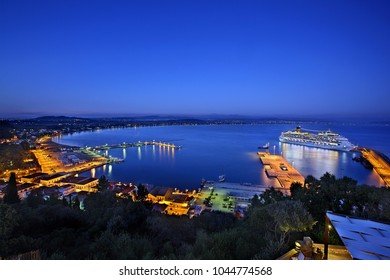 "ELIS (""ILIA""), PELOPONNESE, GREECE- October 20, 2014. Panoramic view of the port of Katakolo town."